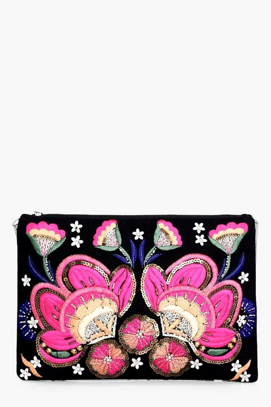 Elizabeth Floral Embellished Clutch Bag