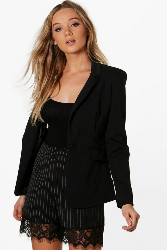 Emilie Elbow Patch Blazer