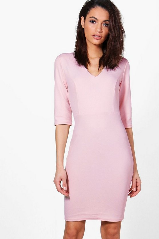 Sara Fitted Mid Sleeve Dress