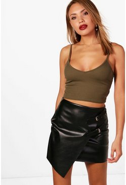 Womens Khaki Basic Ribbed Bralet
