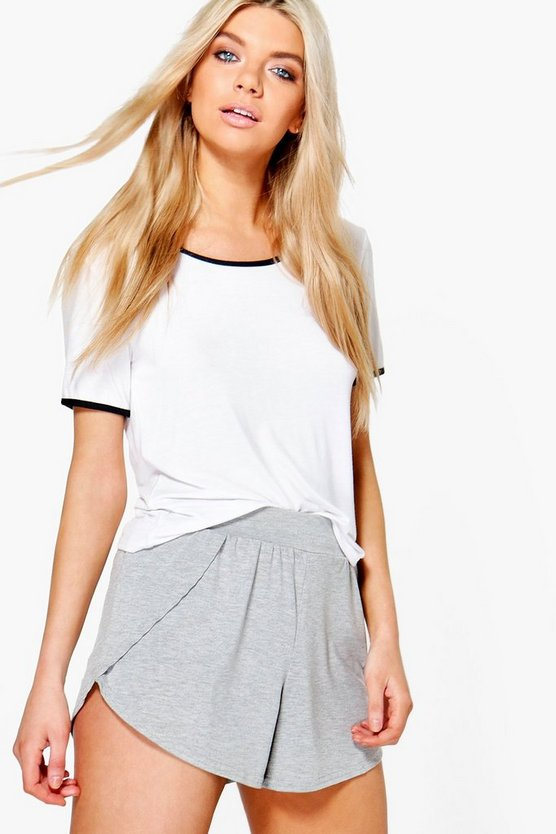 Laura Wrap Over Jersey Shorts