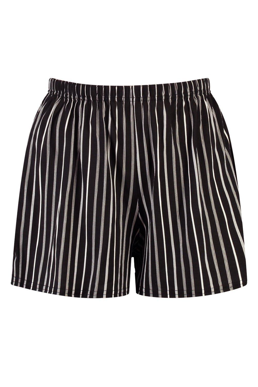 rayas Pantalones cortos de punto negro a IIrzq