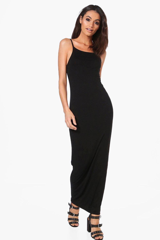 1668c28f3a2edf Han Double Layer Strappy Bodycon Maxi Dress | Boohoo