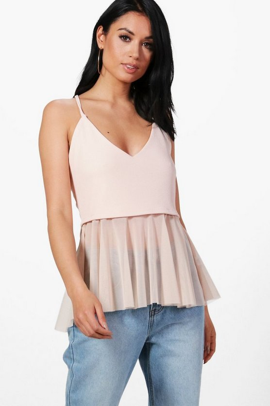 Holly Mesh Peplum Top