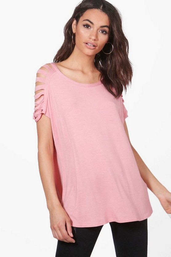 Emery Distressed Shoulder T-Shirt