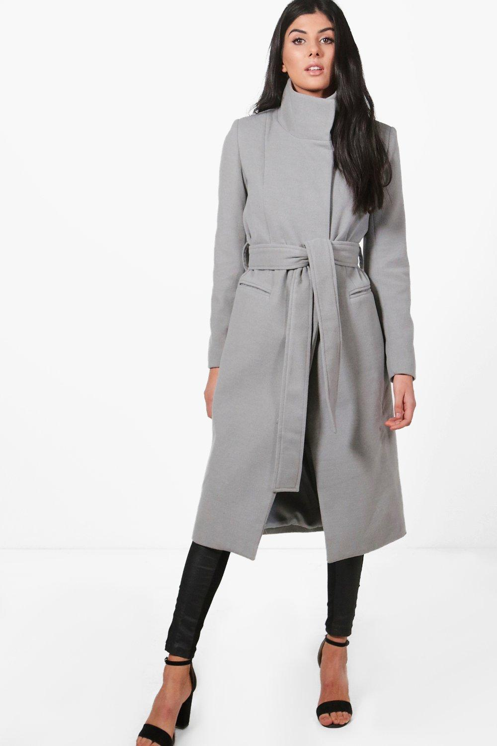 a488d64261af1 Niamh Funnel Neck Wool Coat. Hover to zoom
