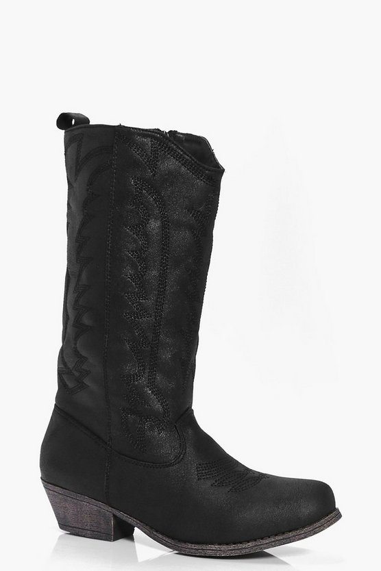 Freya Stitch Detail Cowboy Boot