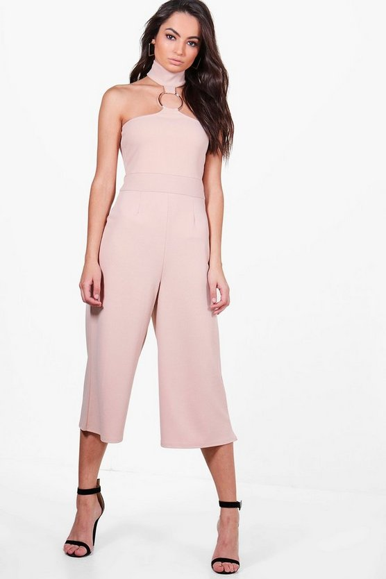 Womens Stone Zora Ring Detail Culotte Jumpsuit