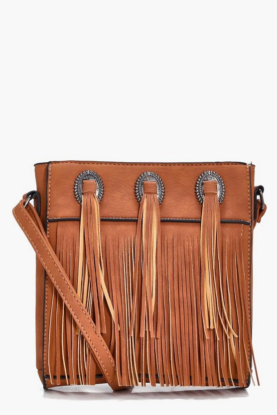 Tegan Western Concho Cross Body Bag
