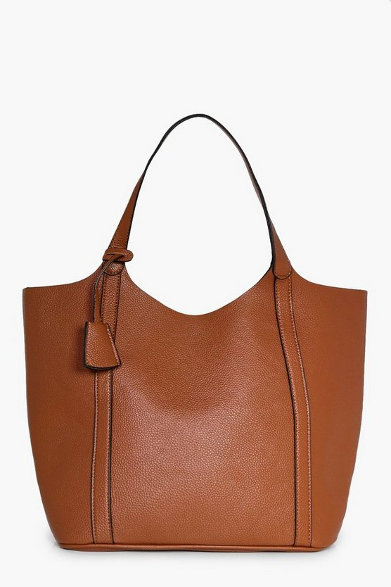 Mae Panel Unlined Oversize Shopper Bag
