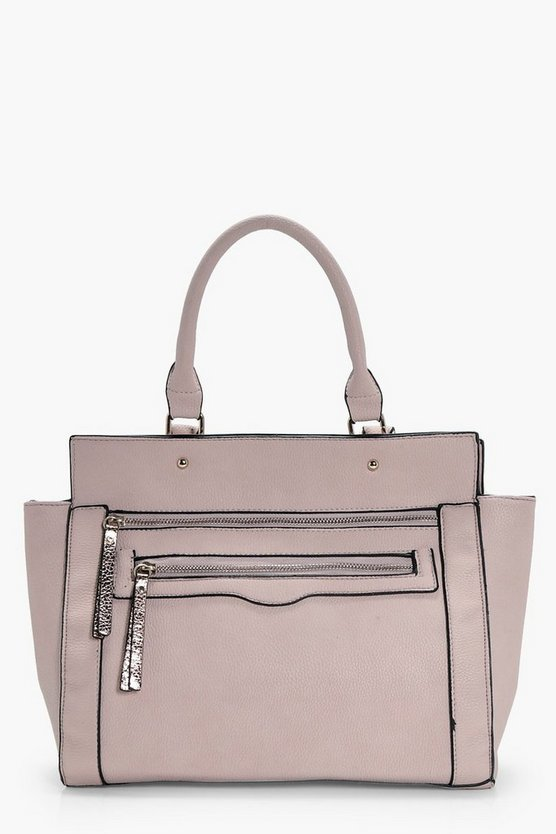 Cerys Metallic Zip Pull Day Bag