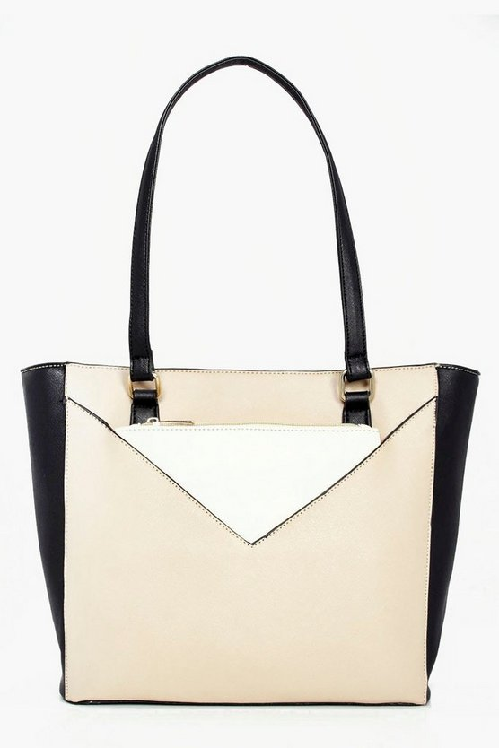 Ava Colourblock Purse Attachment Day Bag