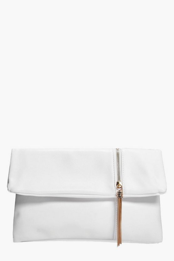 Eloise Zip Detail Fold Over Clutch Bag