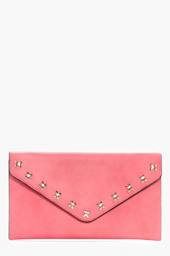 Brooke Cross Detail Envelope Clutch Bag