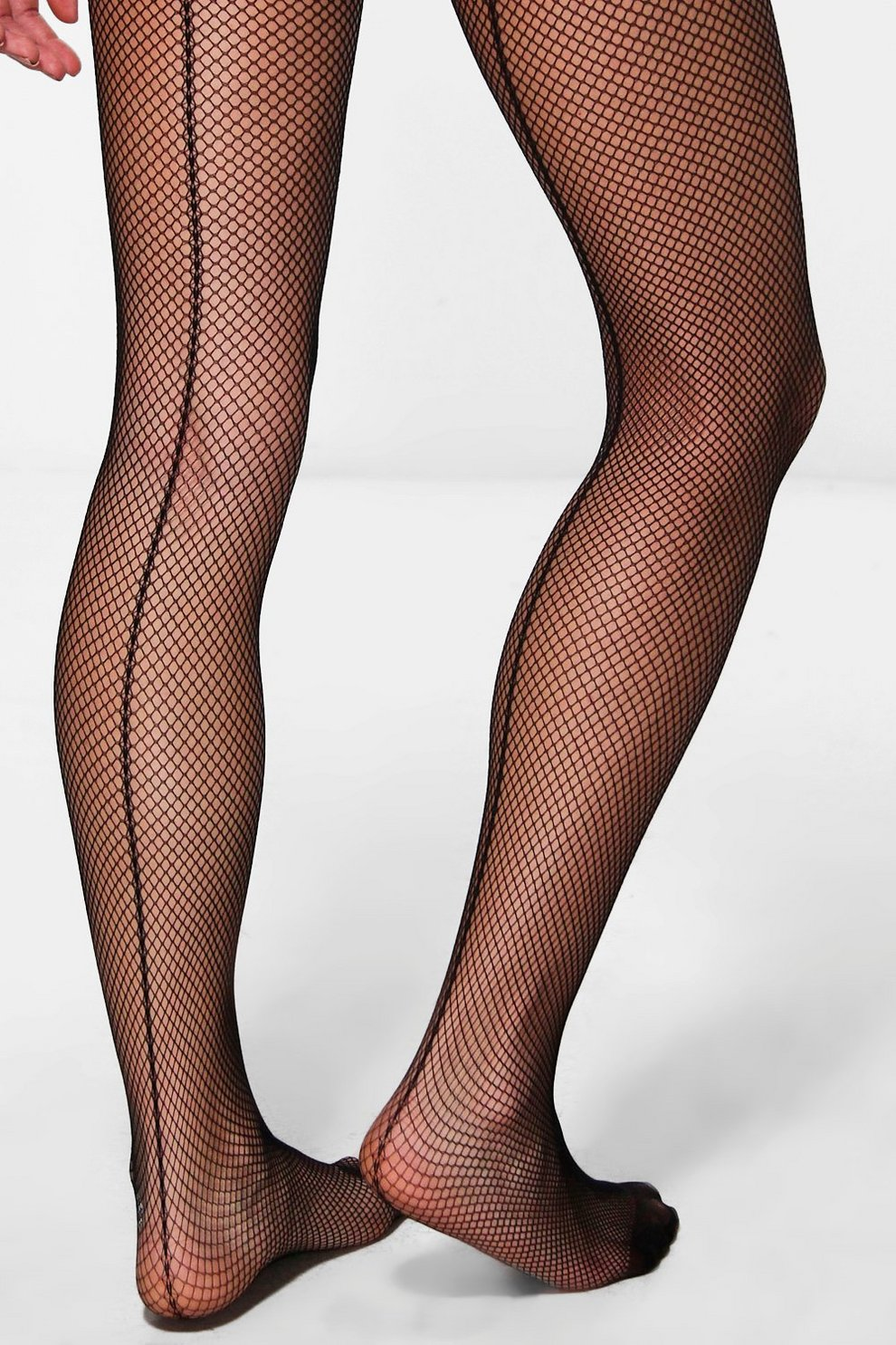 85fad9832 Womens Black Maya Micro Fishnet Tights With Back Seam
