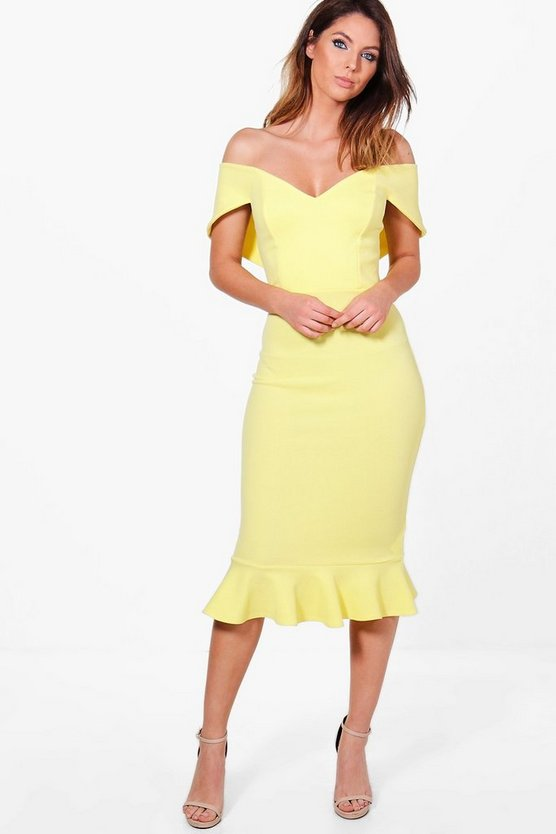 Mai Sweetheart Off Shoulder Midi Dress