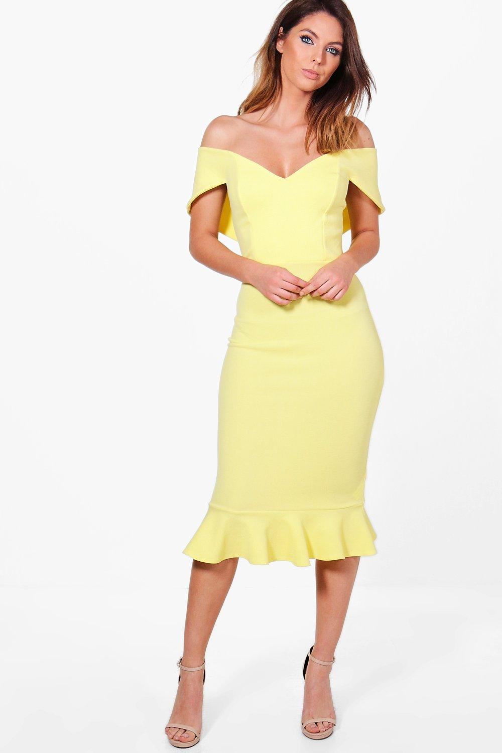 Off Shoulder Midi Dress