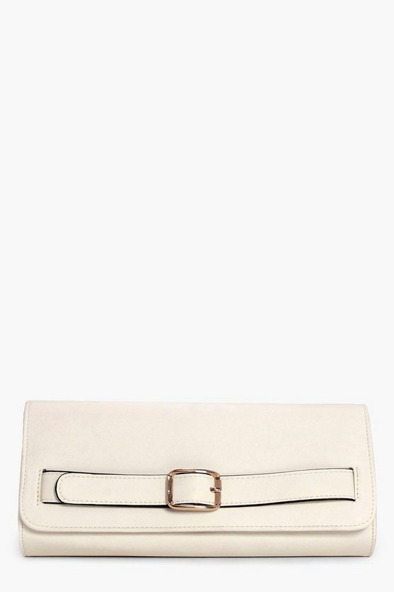 Amber Buckle Detail Clutch Bag