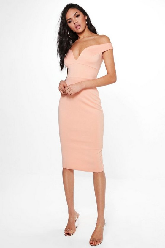 Skye Sweatheart Off Shoulder Bodycon Dress