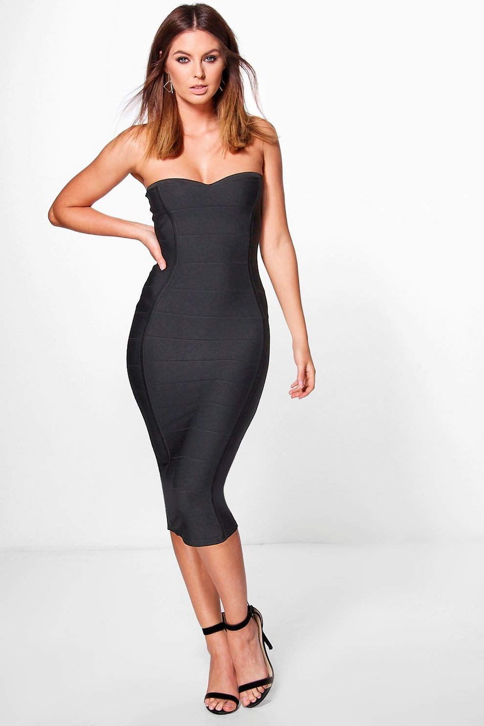 8ed753882a4e Gia Bandeau Bandage Midi Bodycon Dress | Boohoo
