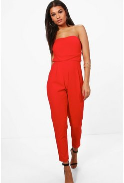 Poppy Bandeau Tailored Woven Slim Fit Jumpsuit