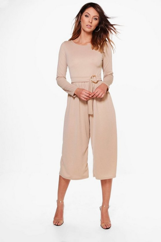 Wrap Front O Ring Belt Jumpsuit