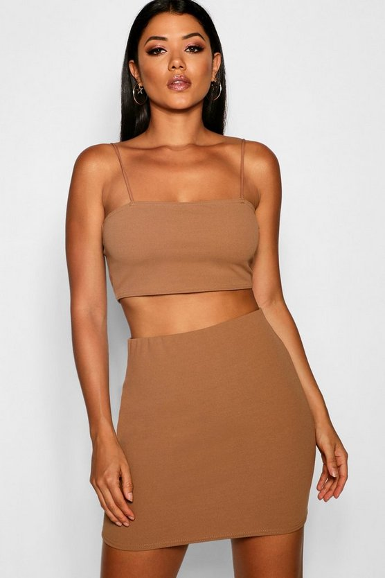 Strappy Crop & Mini Skirt Co-ord Set