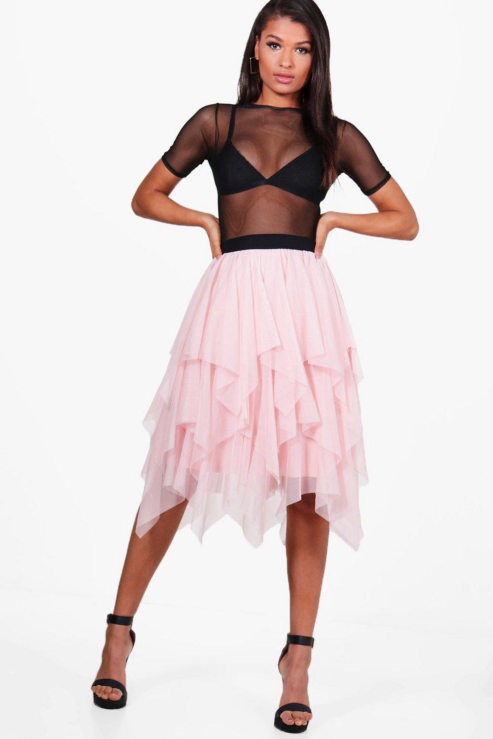 515f2aadeda6 Maya Boutique Layered Tulle Full Midi Skirt | Boohoo
