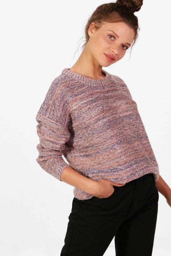 Gabriella Multi-Coloured Crew Neck Jumper