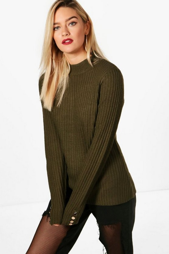 Poppy Slim Fit Ribbed Jumper