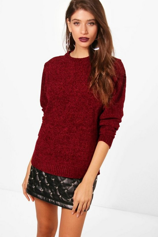 Lacey Chenille Crew Neck Jumper