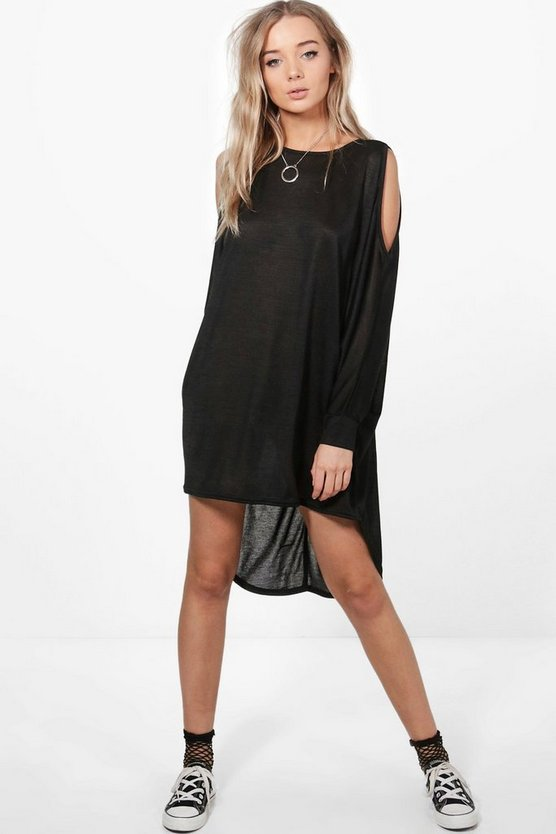 Tiffany Cold Shoulder Knitted Dress