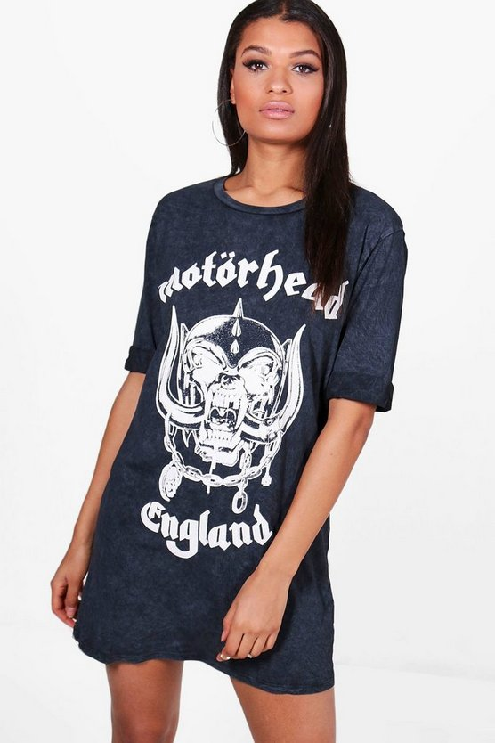 Ziggy Motorhead Acid Wash T-Shirt Dress