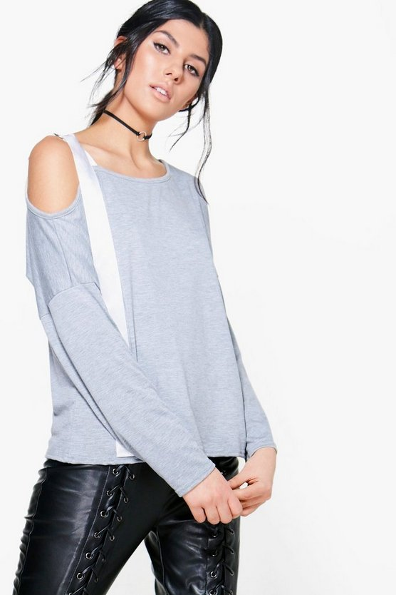 Sara One Shoulder D Ring Tie Top