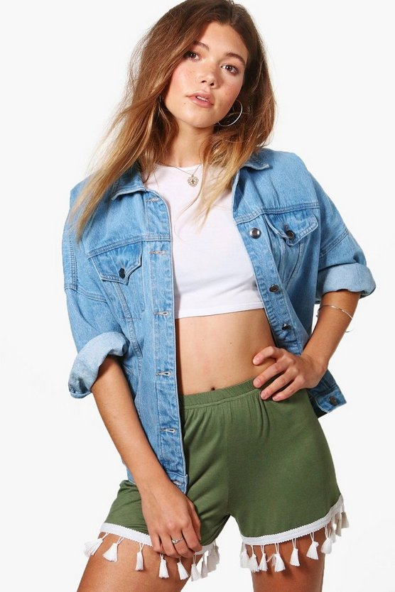 Alex Tassel Trim Flippy Shorts