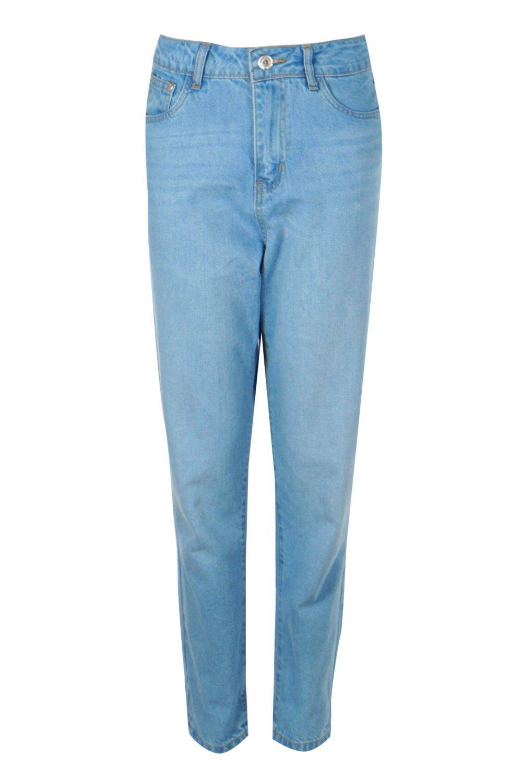 de Azul vuelto alto talle mom bajo Jeans con RYqTFaF0