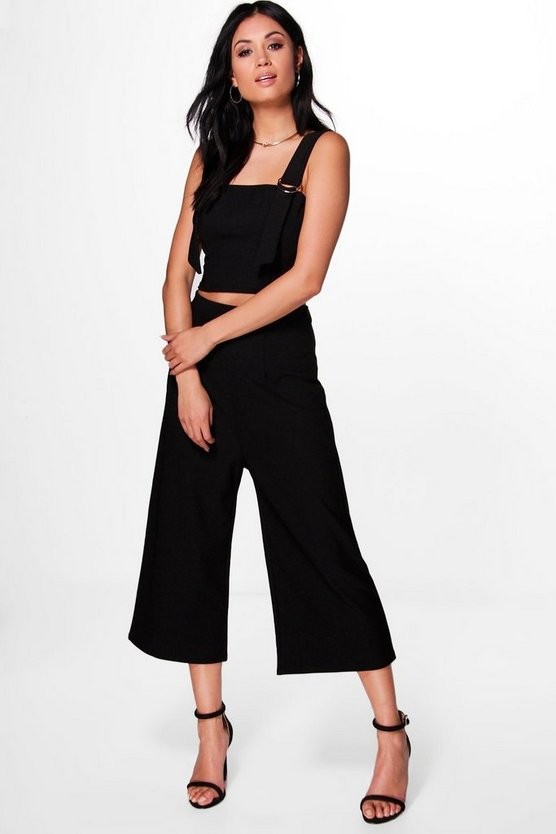 Dorothy D-Ring Crop & Culotte Co-ord Set