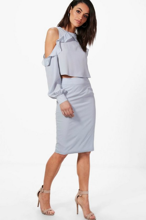 Adrienne Midi Skirt With Split