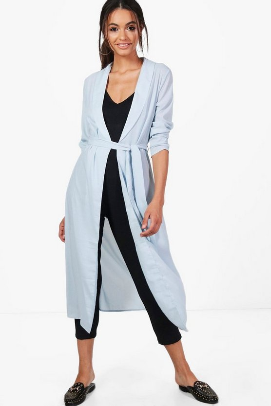 Kate Belted Shawl Collar Duster