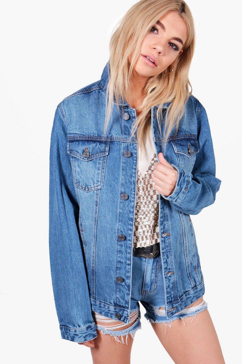 df0f114fbe7 Womens Mid blue Jodie Oversize Denim Jacket