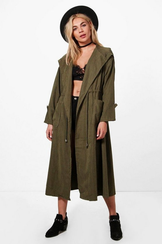Holly Longline Hooded Utility Jacket