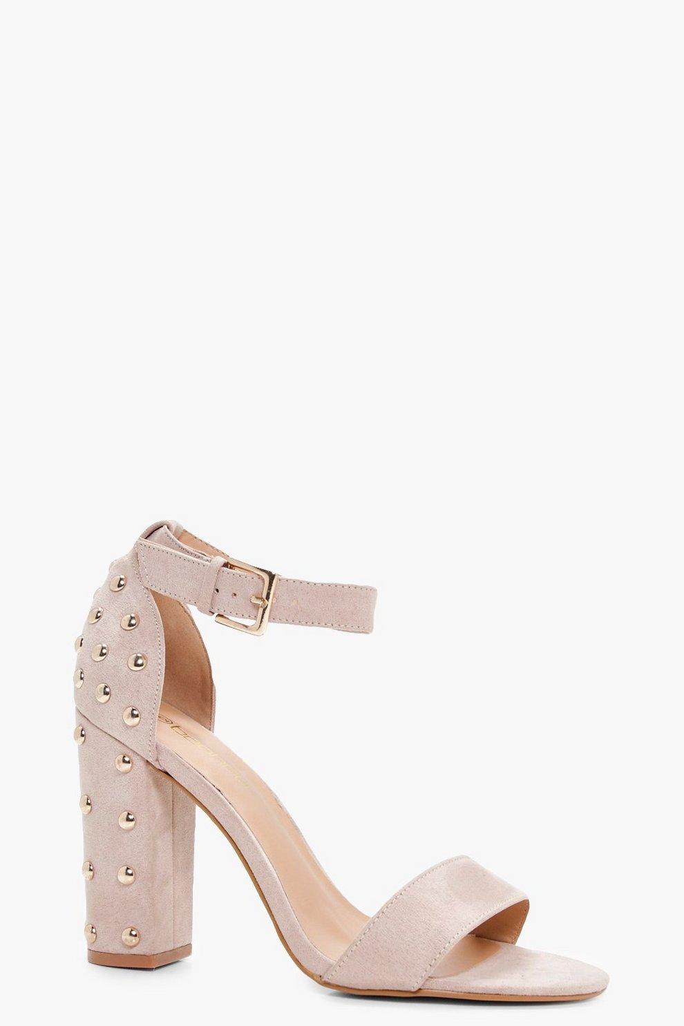 75400b9529d Studded Back Two Part Block Heels