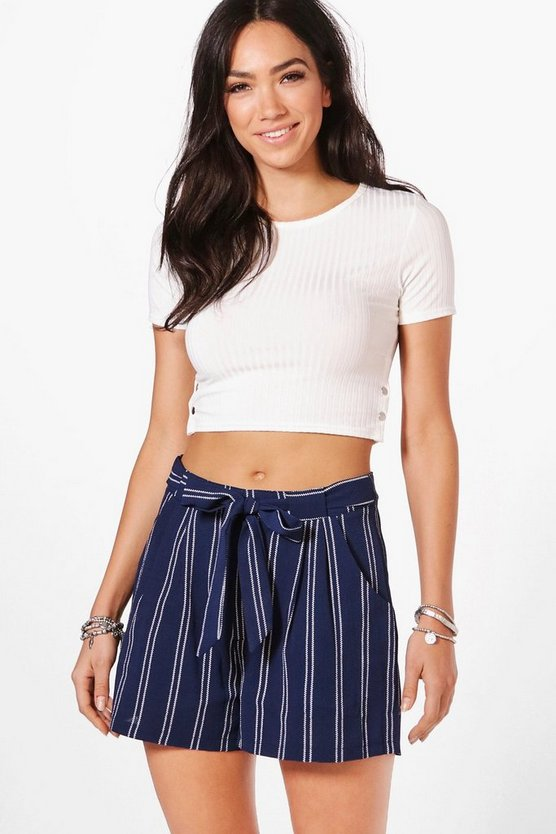 Sophie Stripe Woven Shorts