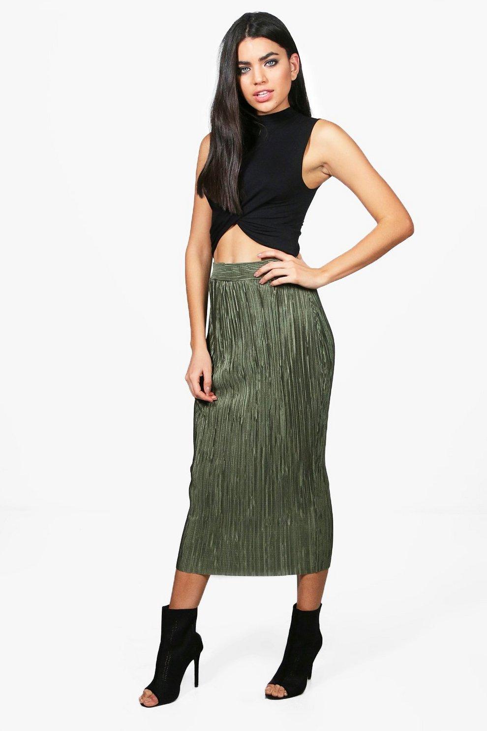 ab1d63b8da Madison Crinkle Pleat Midaxi Skirt | Boohoo