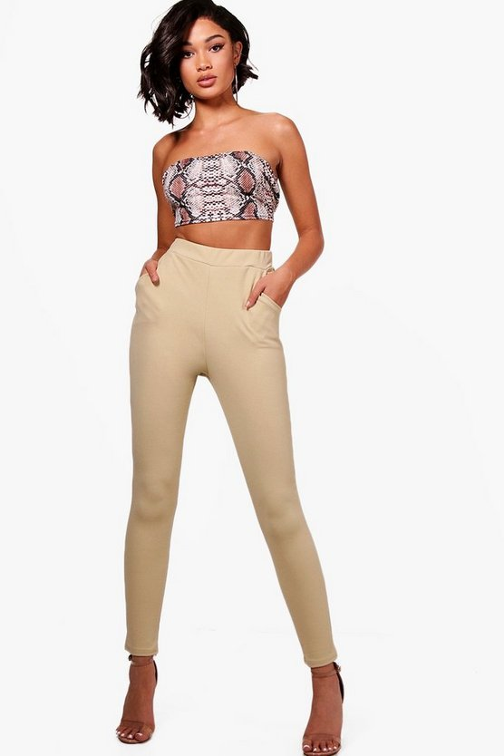 Crepe Stretch Skinny Pants