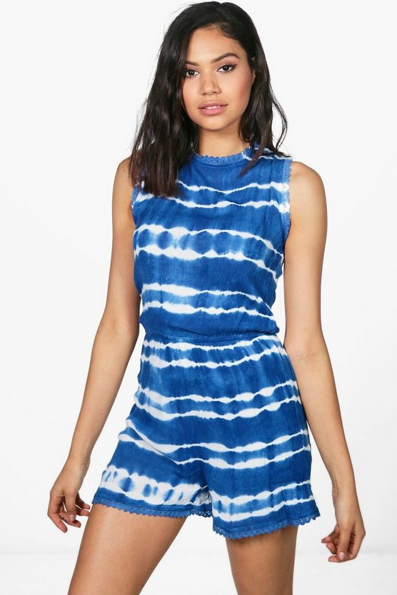 Emma Tie Dye Cheesecloth Playsuit
