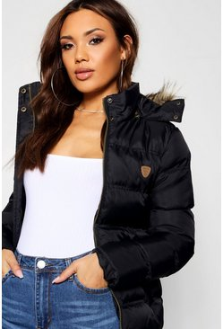 Black Short Quilted Jacket