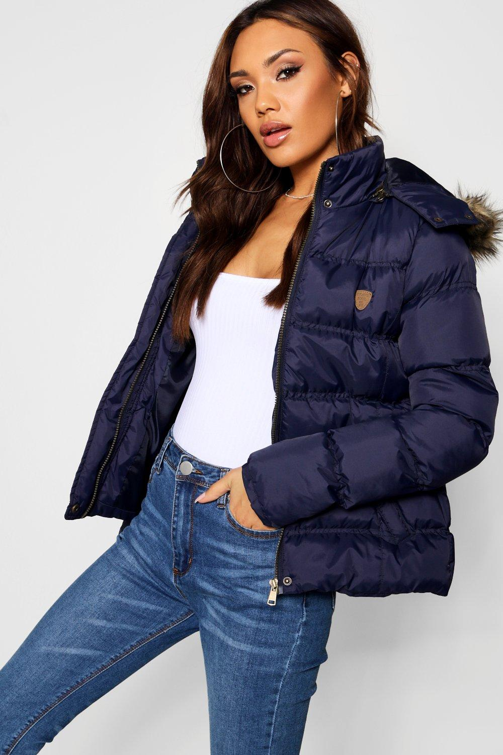 Quilted Short Parka