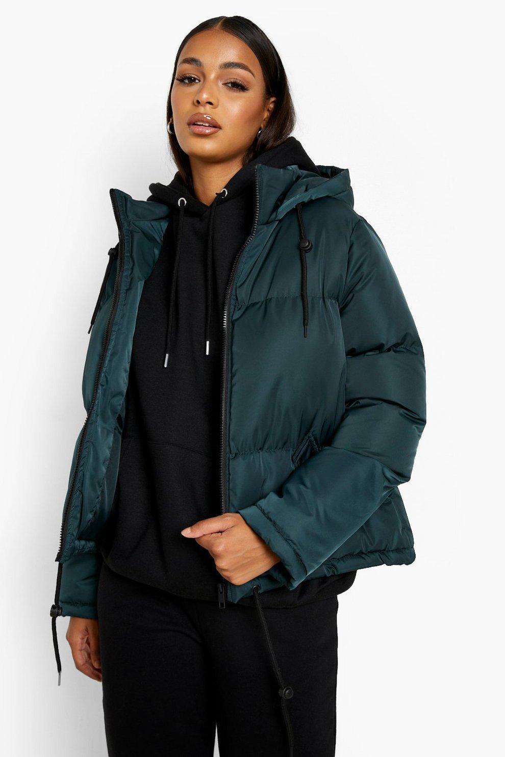 Hooded Padded Jacket Boohoo