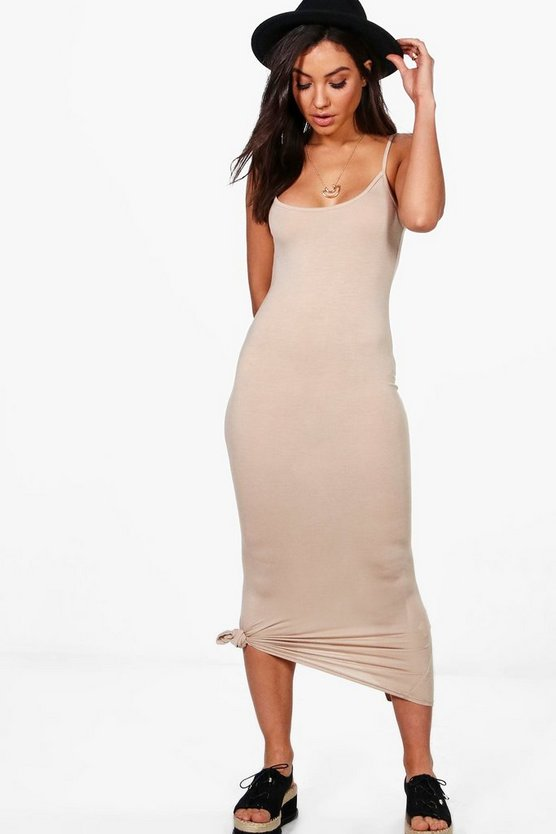 Amabel Strappy Cami Midaxi Dress